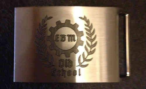 EBM old school Belt Buckle