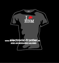 Girlie T-Shirt I heart EBM
