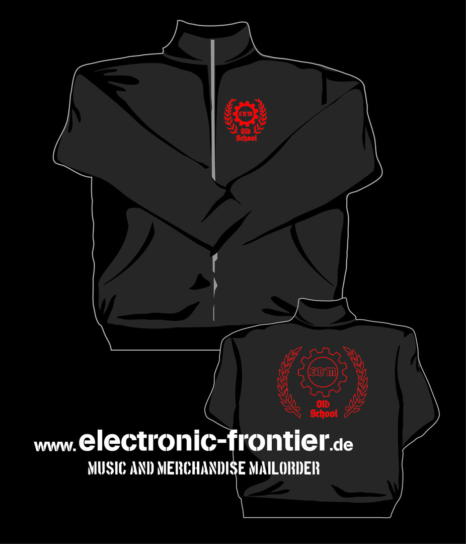 Old School EBM Sweat Jacket, red embroidery