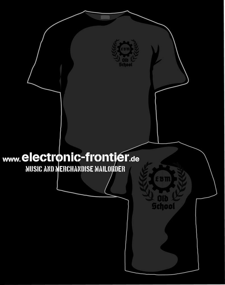 EBM T Shirt front and back black black EBM Electro Kleidung