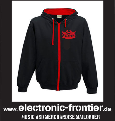 EBM Wings Man Red Aplikation Hoodie