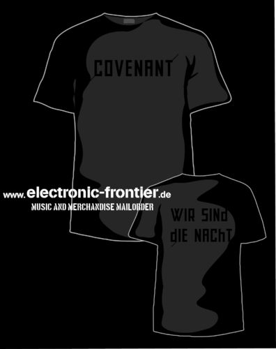 COVENANT T-SHIRT wir sind die Nacht black on black