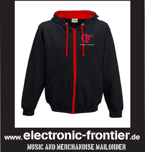 decoded feedback Hoodie schwarz/rot