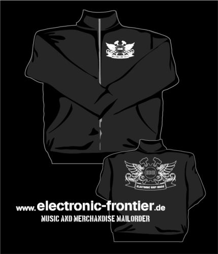 EBM Wings Sweat Jacket Jacket front and back embroidered