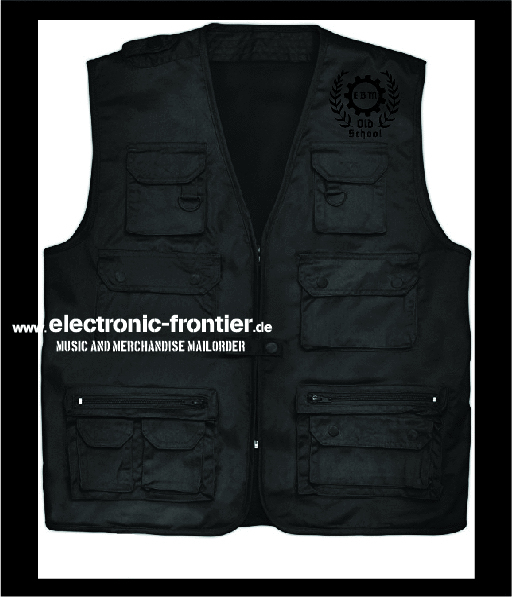 EBM old school hunting vest black embroidered
