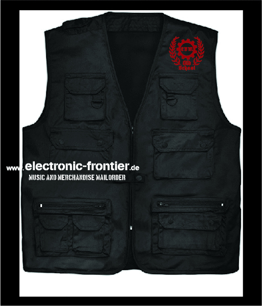 EBM old school hunting vest red embroidered